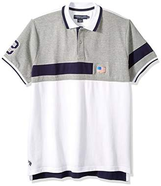 U.S. Polo Assn. Men's Short Sleeve Classic Fit Fancy Pique Polo Shirt