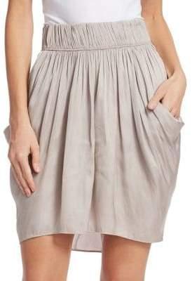 Halston Ruched Waist Flowy Skirt