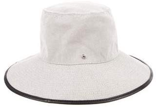 Hermes Toile Leather-Trimmed Hat