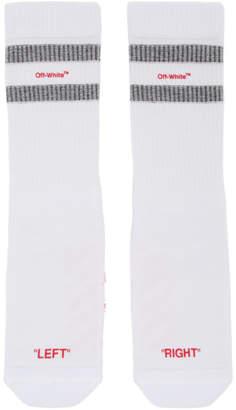 Off-White White and Red Reversed Sport Socks