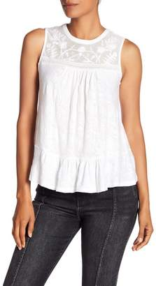 Lucky Brand Tiered Jacquard Tank Top