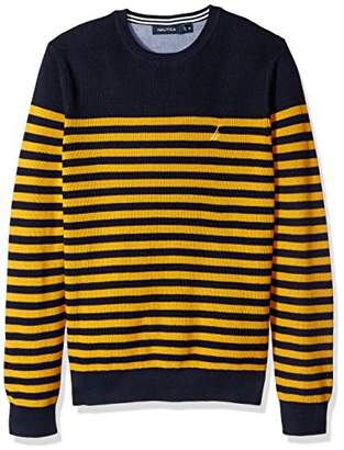 Nautica Men's Long Sleeve Classic Bretton Stripe Sweater
