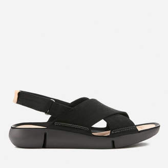 Clarks Women's Tri Chloe Nubuck Cross Strap Sandals