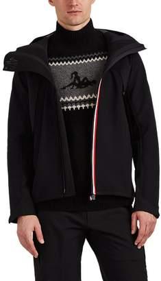 Moncler Men's Stripe-Trimmed Tech-Fabric Wind-Stopper Jacket