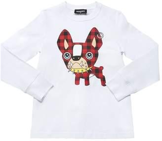 DSQUARED2 Ciro Cotton Jersey Long Sleeve T-Shirt