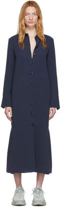 Tibi Navy Spring Shirt Dress