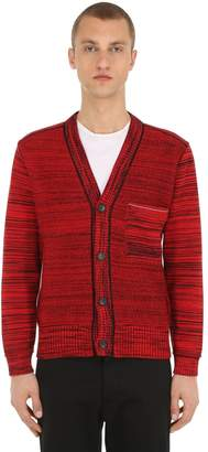 Two-Tone Cotton Knit Cardigan