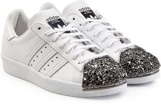 Adidas Originals Superstar 80s Leather Sneakers $179 thestylecure.com