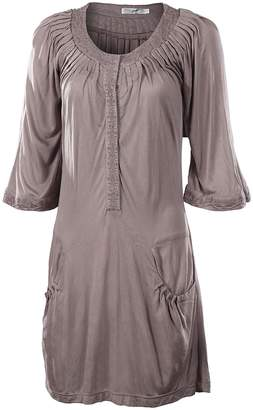 Monoreno Mur Pleated Grey Tunic