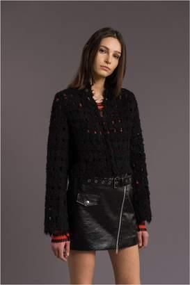 Sonia Rykiel Short Openwork Tweed Jacket