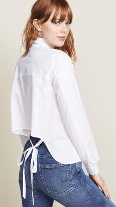 BB Dakota Bittersweet Symphony Blouse with Draped Back