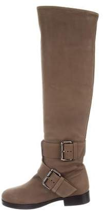 Pierre Hardy Nubuck Calf Over-The-Knee Boots