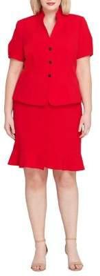 Tahari Arthur S. Levine Short-Sleeve Jacket and Skirt Suit