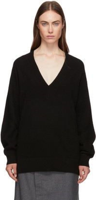 Rag & Bone Black Cashmere Logan V-Neck Sweater