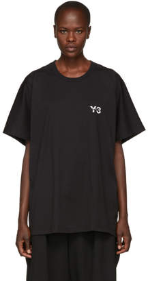 Y-3 Black Signature Logo T-Shirt
