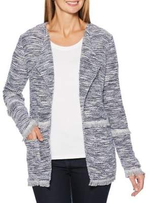 Rafaella Fringed Boucle Open Jacket