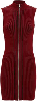 McQ Zip Ribbed Mini Dress