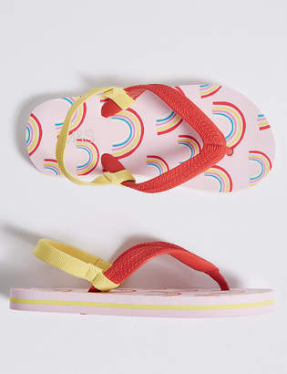Marks and Spencer Kids Rainbow Flip-flops (5 Small - 12 Small)