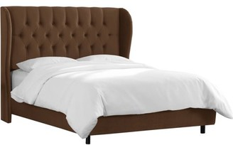 ONLINE Tufted Wingback Bed, Multiple Sizes And