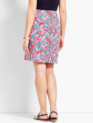 Talbots Stretch Cotton Canvas Skirt-Lobster Print