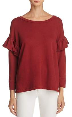 Current/Elliott Drop Shoulder Ruffle Sweatshirt