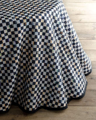 Mackenzie Childs Courtly Check Round Table Skirt