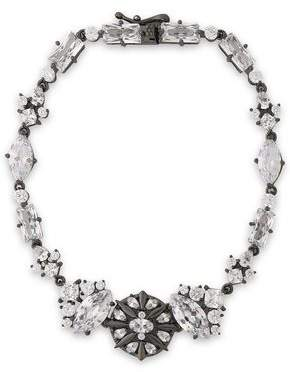 Noir Gunmetal-Tone Crystal Necklace