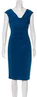 Lauren Ralph Lauren Ruche-Accented Midi Dress w/ Tags