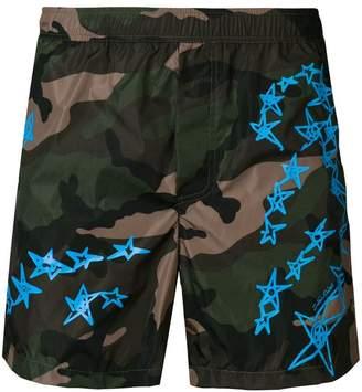 Valentino Zandra Stars print swim shorts