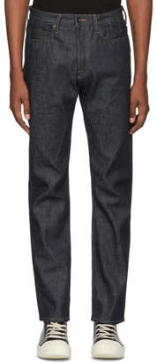 Rick Owens Indigo Torarance Cut Jeans