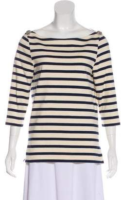 Chloé Striped Embellished Top