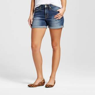 Mossimo Women's High-rise Midi Shorts Dark Wash - Mossimo $19.99 thestylecure.com