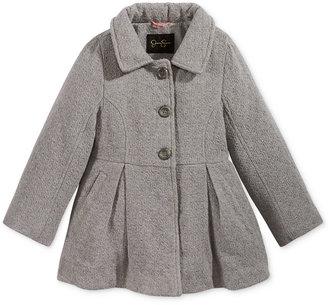 Jessica Simpson Basketweave Tweed Coat, Little Girls (2-6X) $85 thestylecure.com