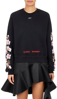 Off-White c/o Virgil Abloh Women's Cherry Blossom-Embroidered Sweatshirt $2,220 thestylecure.com