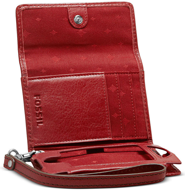 Marlow Fossil Wallet, Phone Case with Wristlet Strap