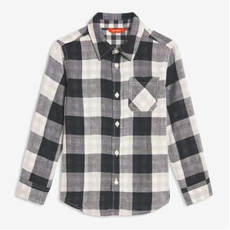 Joe Fresh Kid Boys' Plaid Shirt, Black (Size XL)