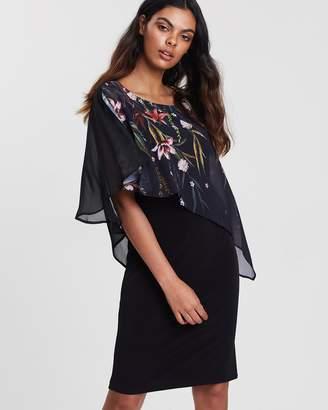 Wallis Oriental Print Overlay Dress