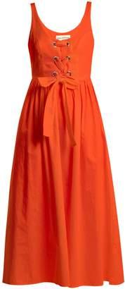 Mara Hoffman Athena lace-up woven dress