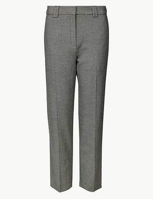 Marks and Spencer PETITE Checked Straight Leg Trousers