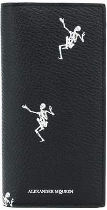 Alexander McQueen Dancing Skeleton folded long wallet
