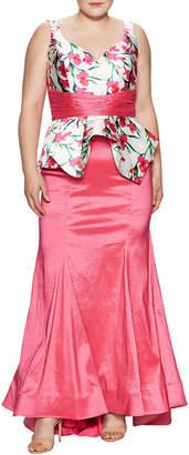 Mac Duggal Macduggal Floral Print Gown