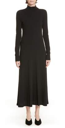 Rosetta Getty Turtleneck Jersey Dress