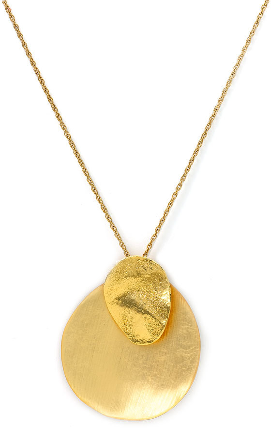 Alexis Bittar Long Lucite® Sand Dollar Necklace