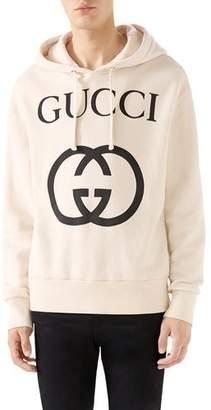 0a60c4ce1c4 Gucci Men s GG Logo Hoodie Sweatshirt