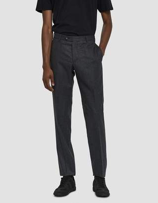 Officine Generale Italian Flannel Paul Pants in Anthracite