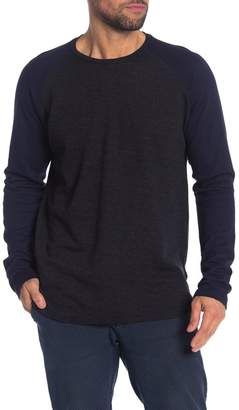 Velvet by Graham & Spencer Marled Long Sleeve Raglan Jersey Shirt