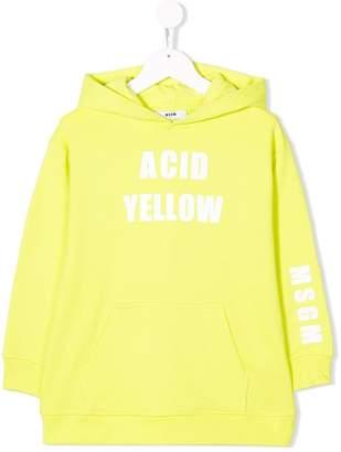 MSGM Kids colour print hoodie