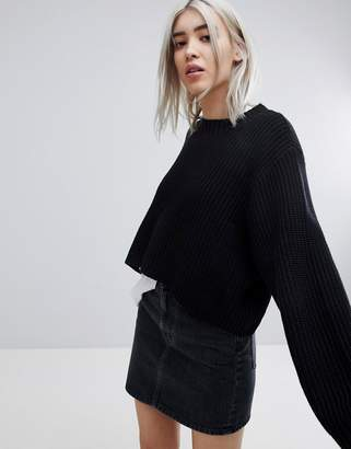 Weekday Thick Rib Cropped Sweater