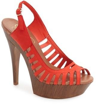 Women's Jessica Simpson 'Finch' Platform Peep Toe Sandal $97.95 thestylecure.com