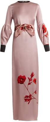 JOHANNA ORTIZ Fortuneteller Old Rose-print silk-satin dress